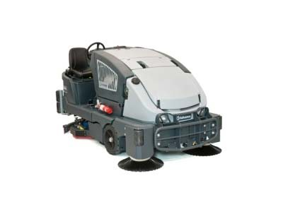 Hybrid sweeper & scrubber